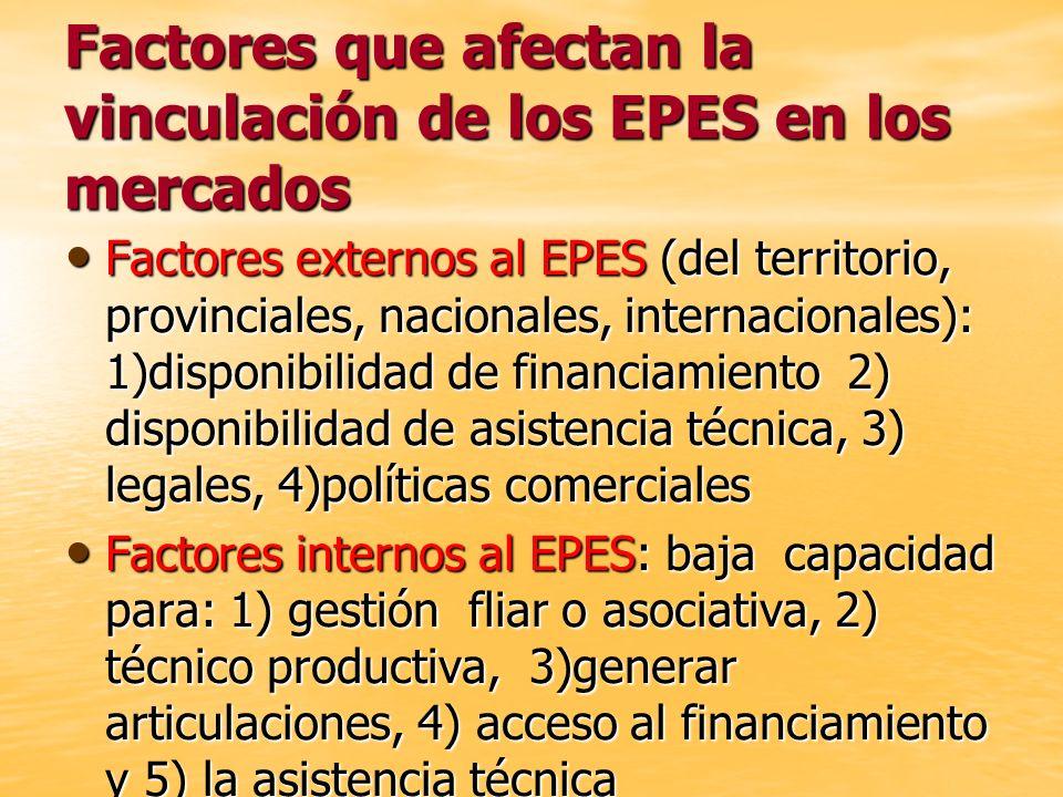 Factores que afectan la vinculación de los EPES en los mercados