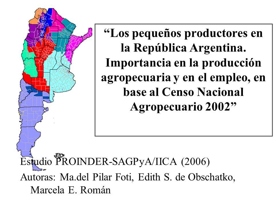 Los pequeños productores en la República Argentina