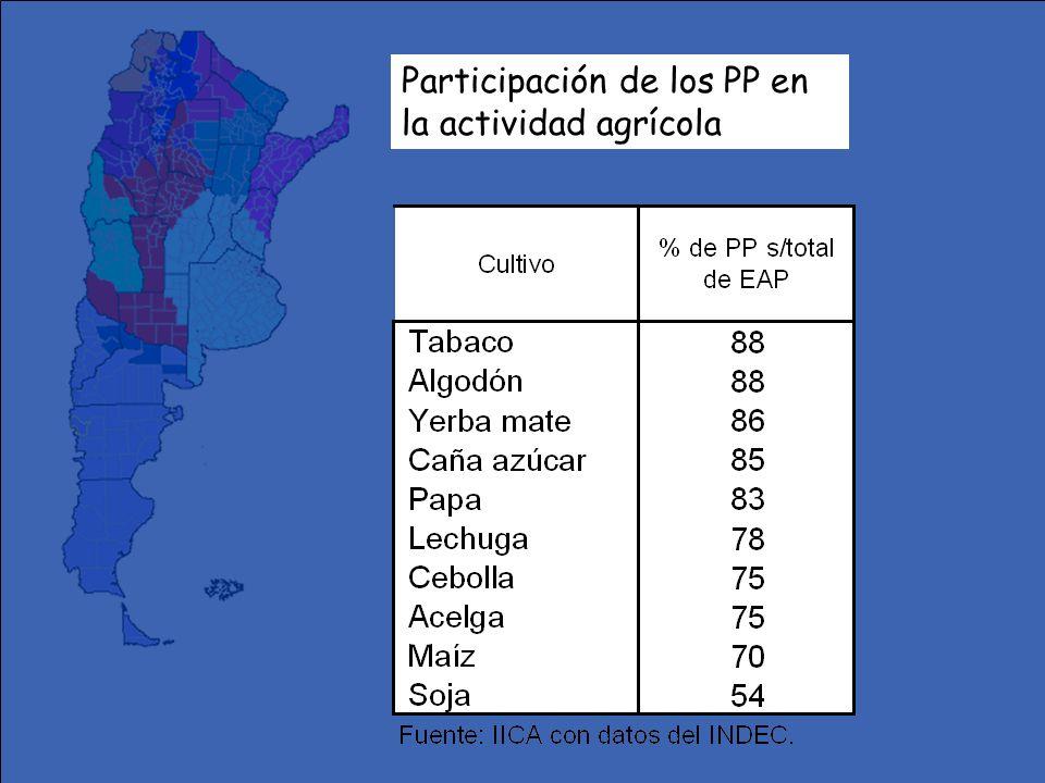 Participación de los PP en