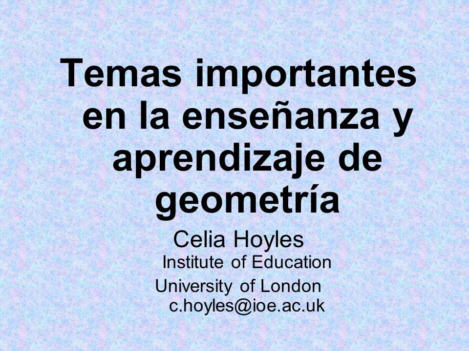 Temas importantes en la enseñanza y aprendizaje de geometría