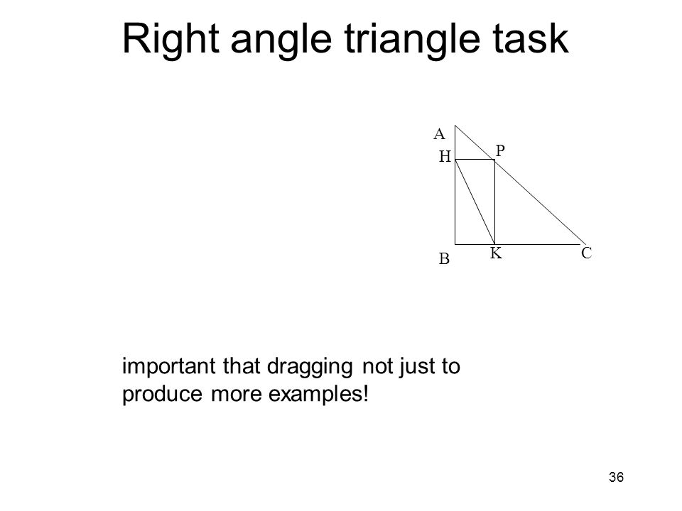 Right angle triangle task
