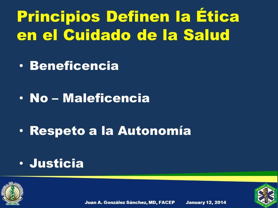 Principios Definen la Ética en el Cuidado de la Salud