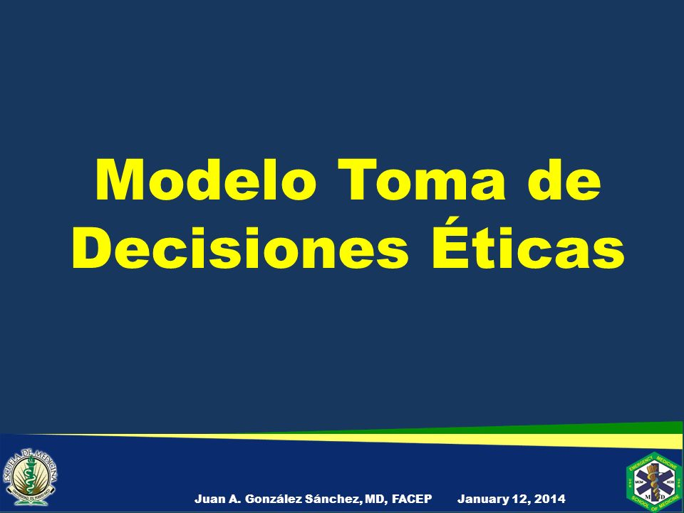 Modelo Toma de Decisiones Éticas