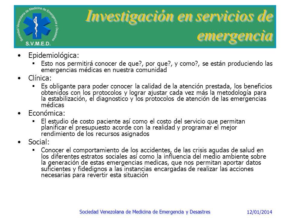 Investigación en servicios de emergencia