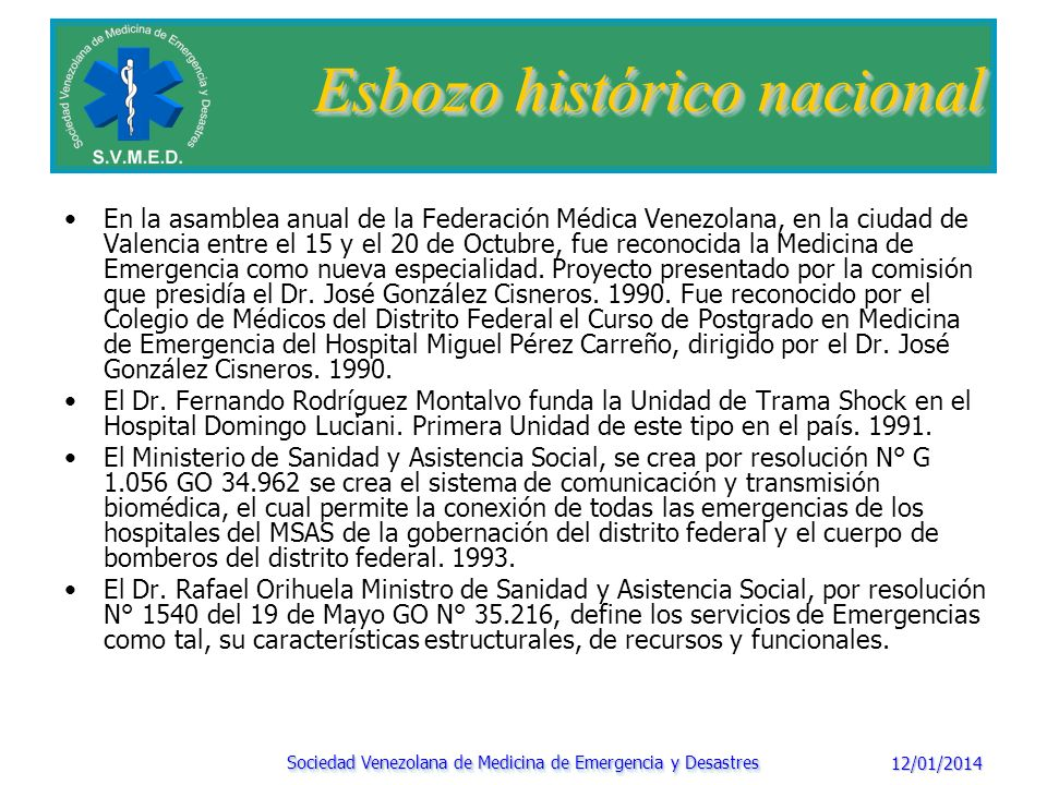 Esbozo histórico nacional