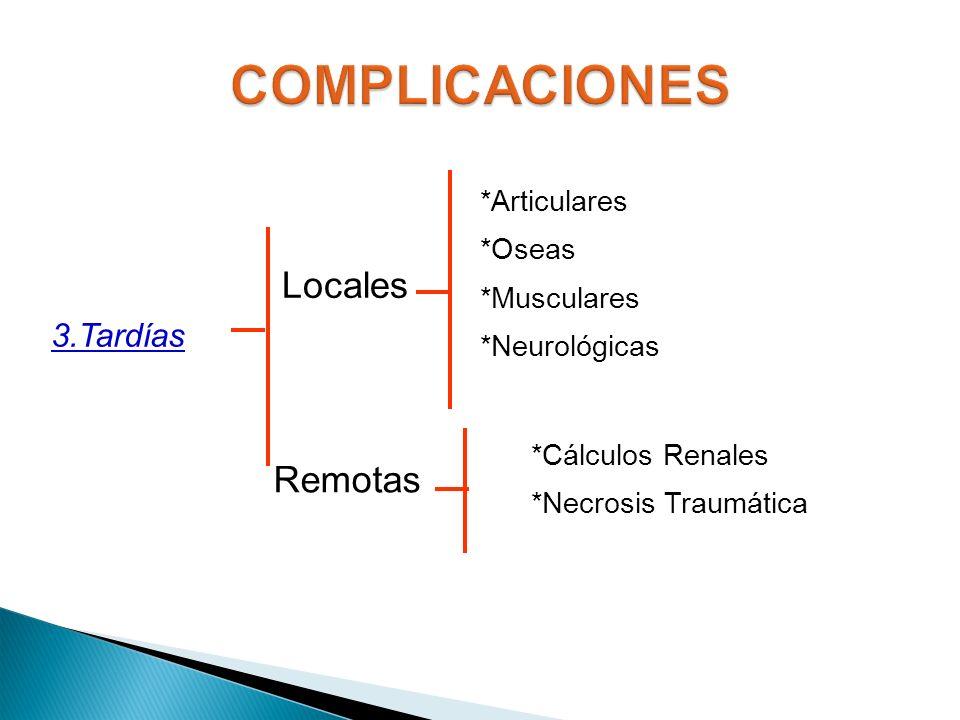 COMPLICACIONES Locales Remotas 3.Tardías *Articulares *Oseas