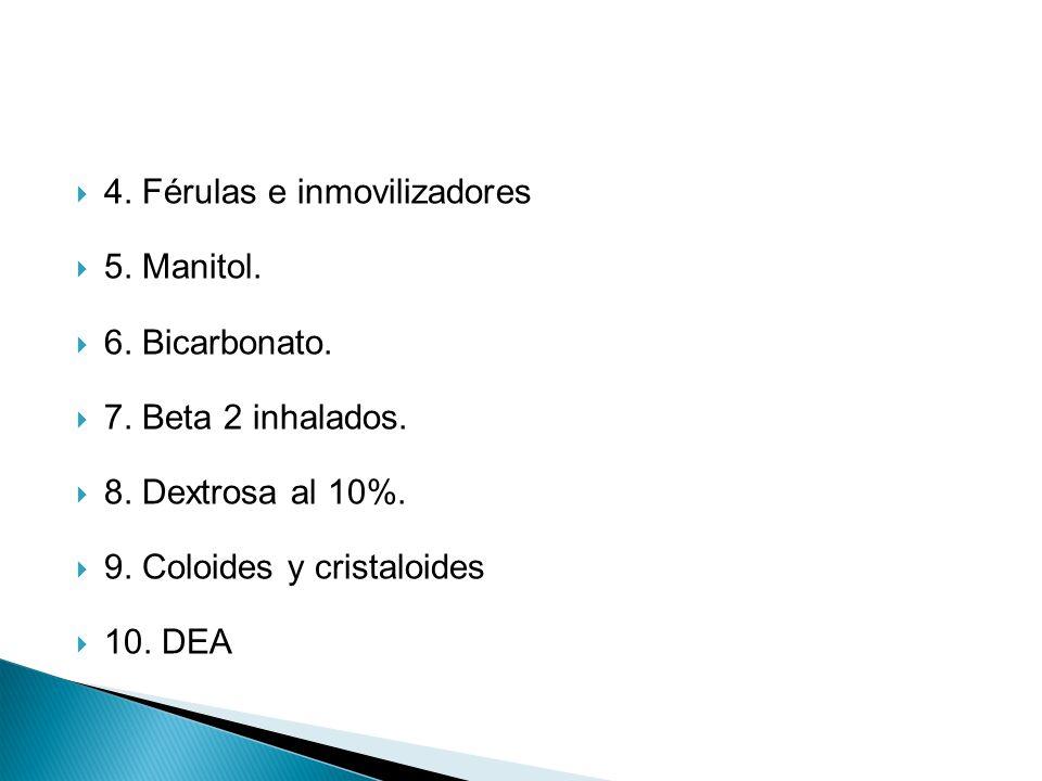 4. Férulas e inmovilizadores