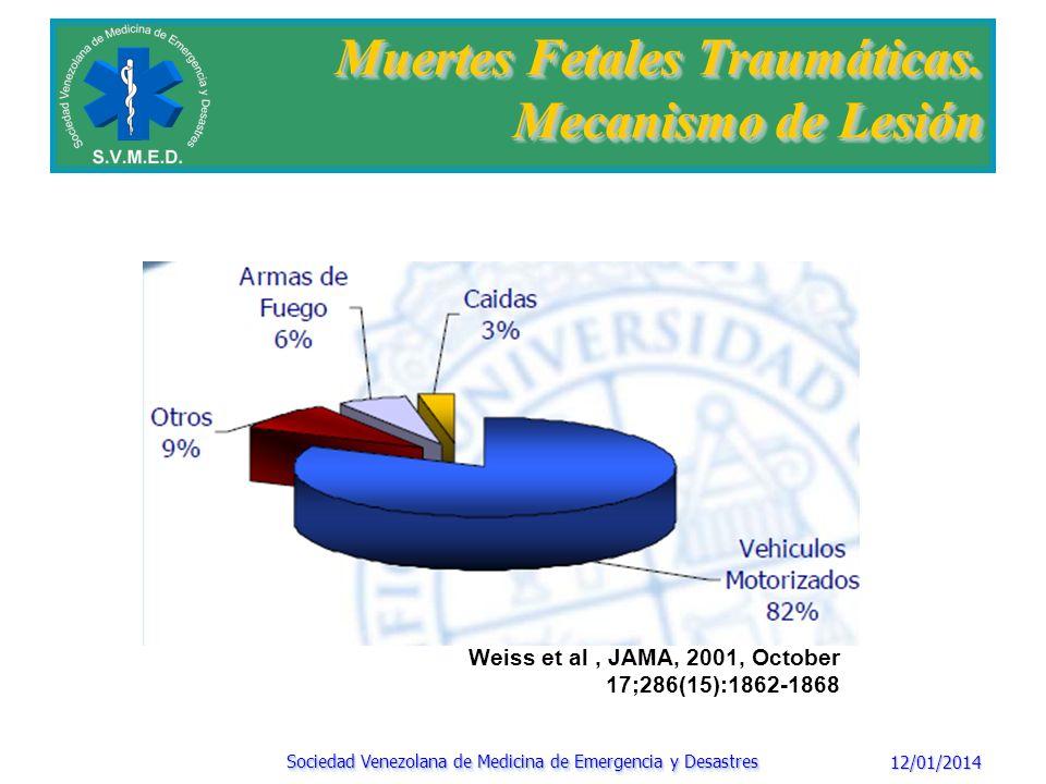 Muertes Fetales Traumáticas. Mecanismo de Lesión
