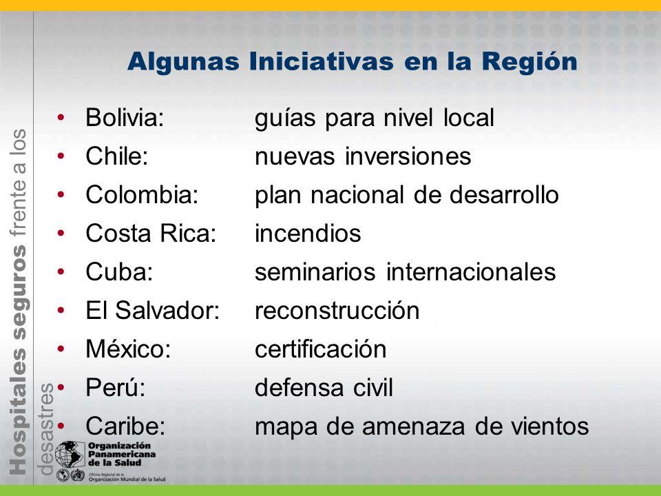 Algunas Iniciativas en la Región