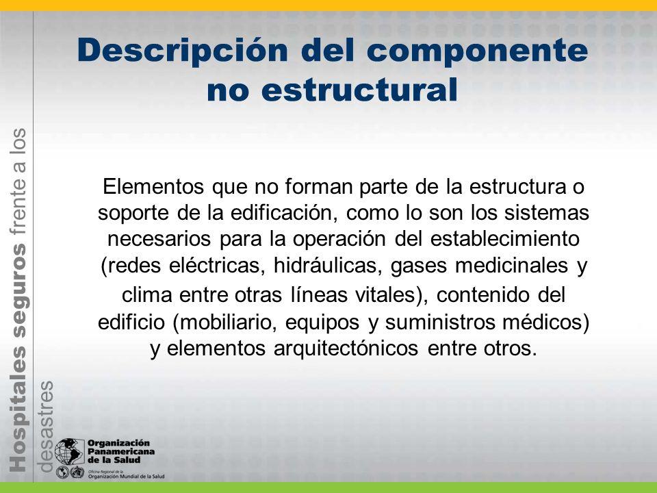 Descripción del componente no estructural