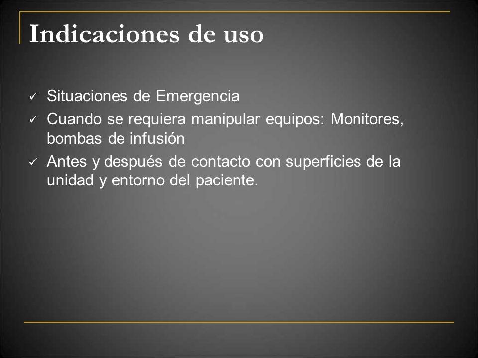 Indicaciones de uso Situaciones de Emergencia