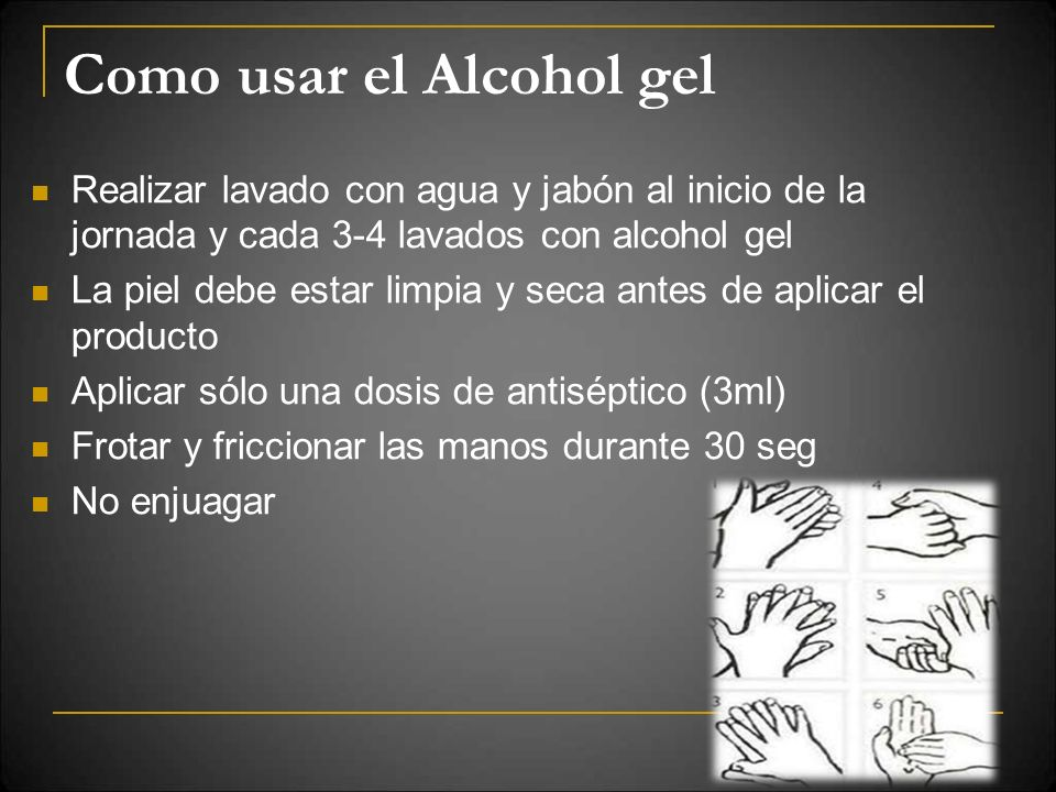 Como usar el Alcohol gel