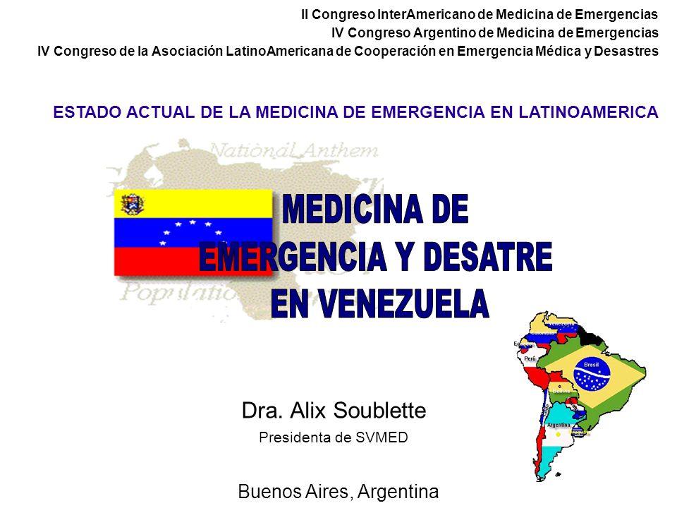 Dra. Alix Soublette Presidenta de SVMED