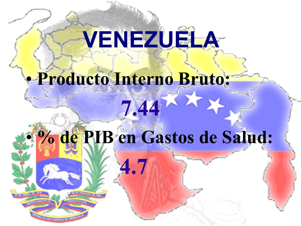 VENEZUELA Producto Interno Bruto: 7.44 % de PIB en Gastos de Salud:
