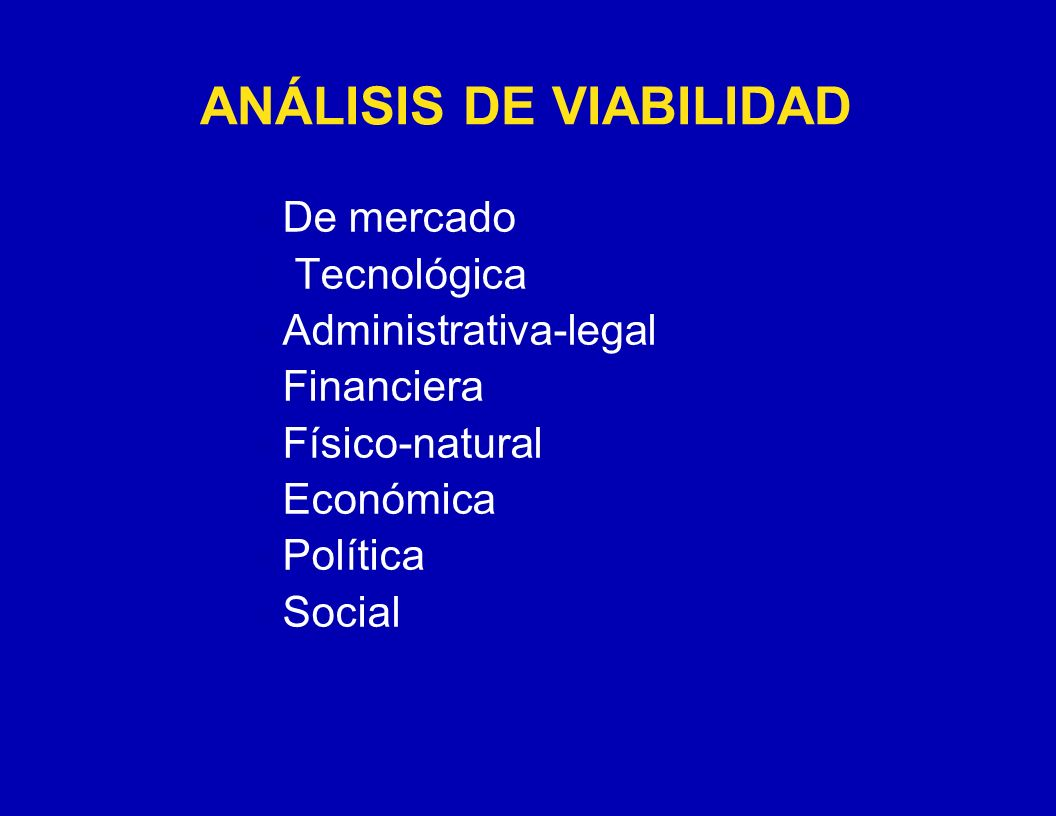 ANÁLISIS DE VIABILIDAD