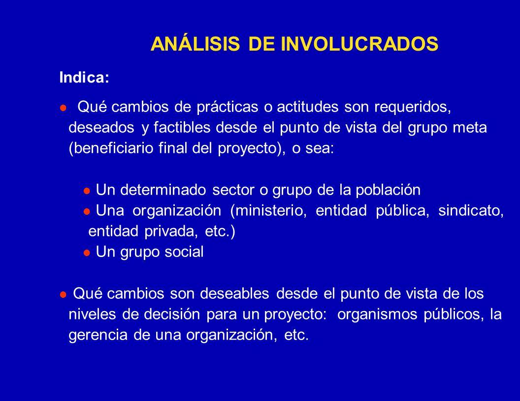 ANÁLISIS DE INVOLUCRADOS