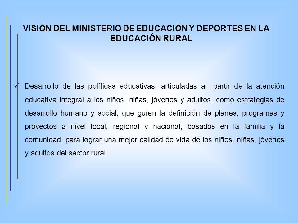VISIÓN DEL MINISTERIO DE EDUCACIÓN Y DEPORTES EN LA EDUCACIÓN RURAL