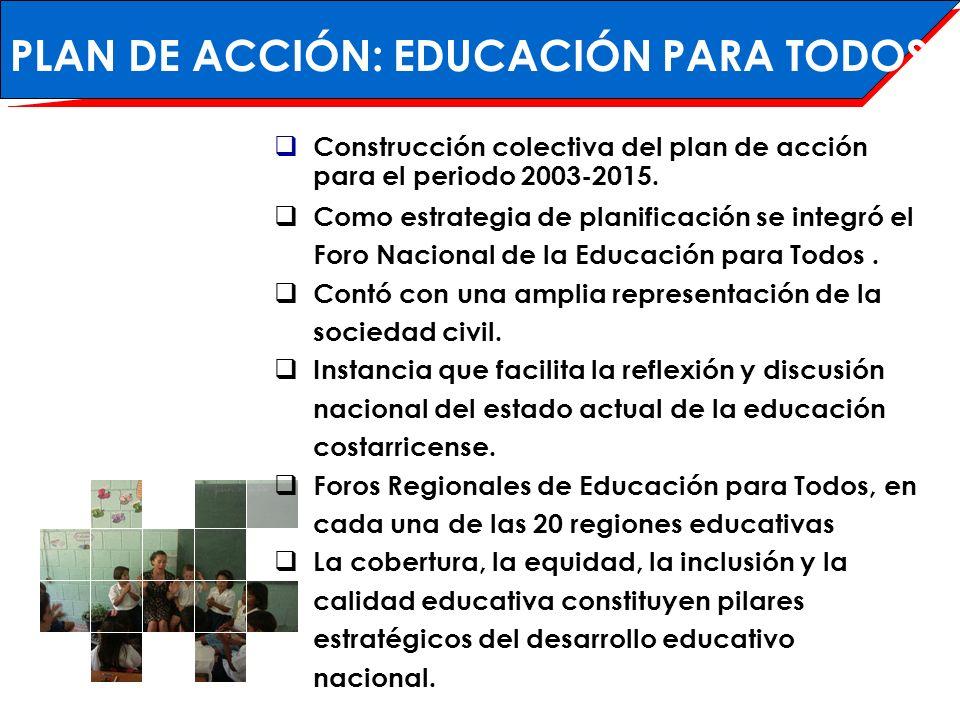 PLAN DE ACCIÓN: EDUCACIÓN PARA TODOS