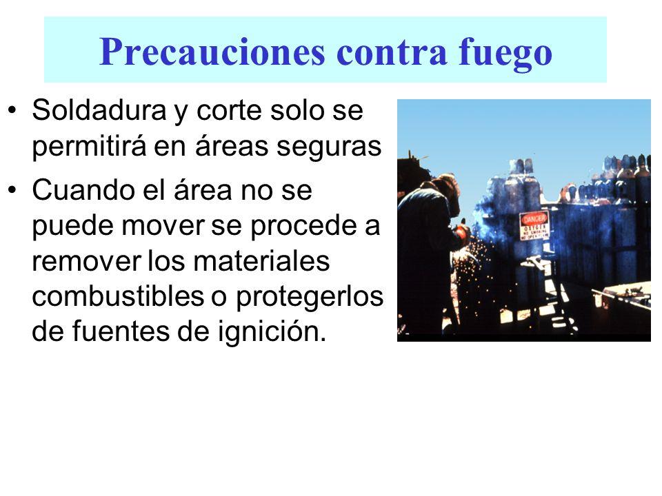 Precauciones contra fuego