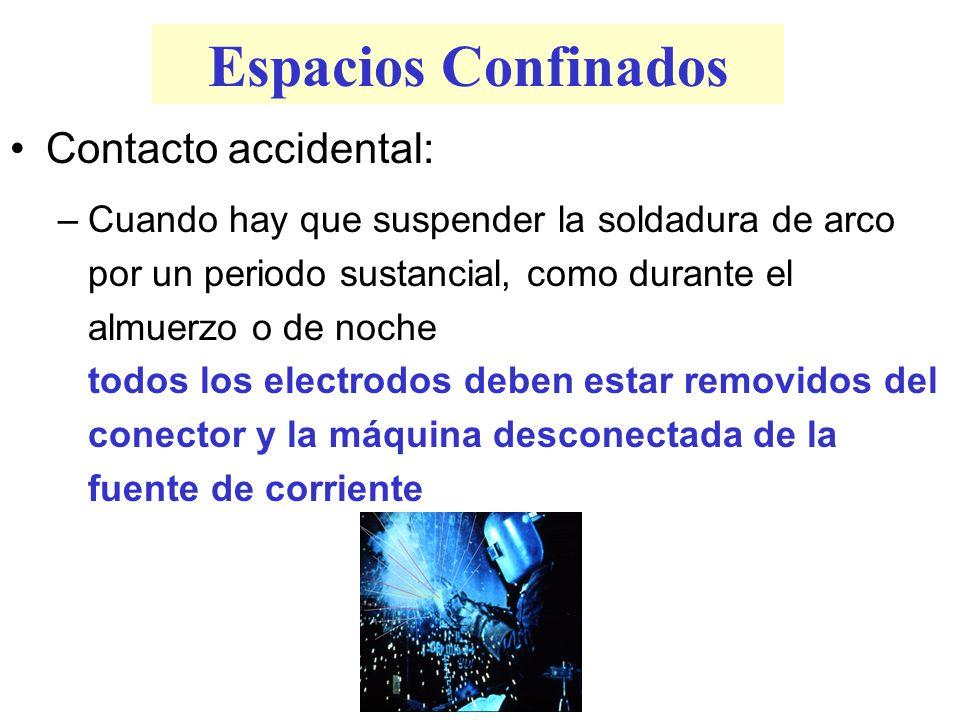 Espacios Confinados Contacto accidental: