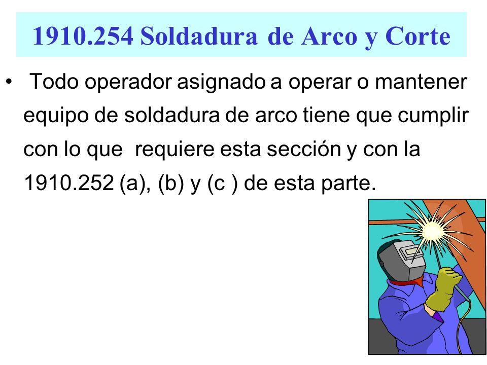 1910.254 Soldadura de Arco y Corte