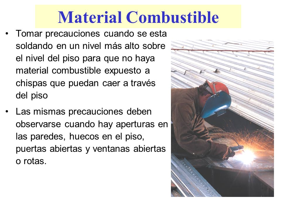 Material Combustible