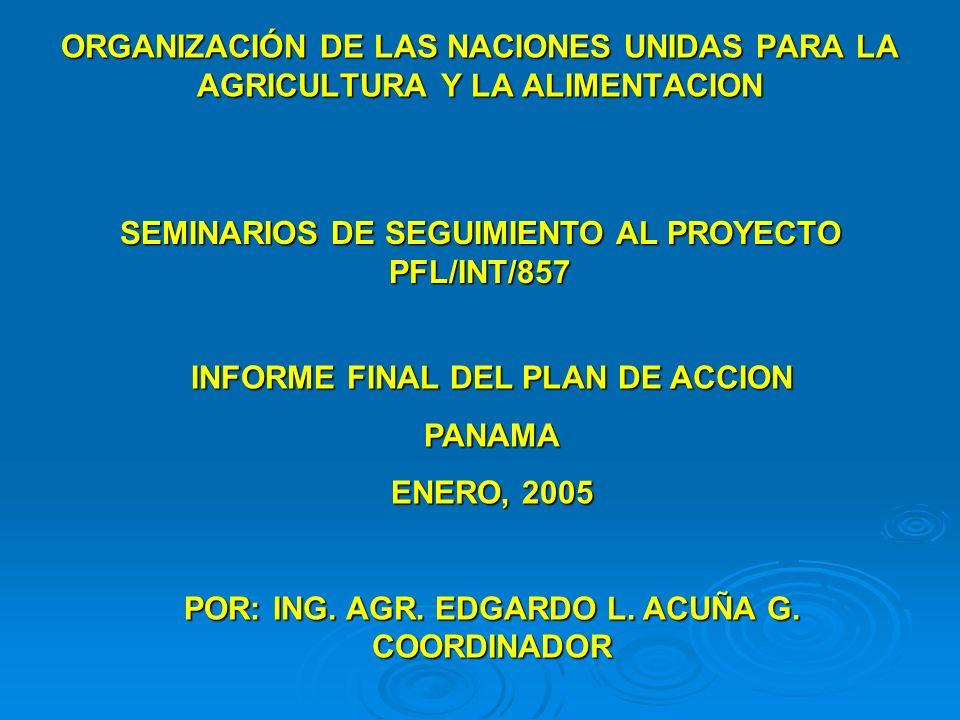 SEMINARIOS DE SEGUIMIENTO AL PROYECTO PFL/INT/857