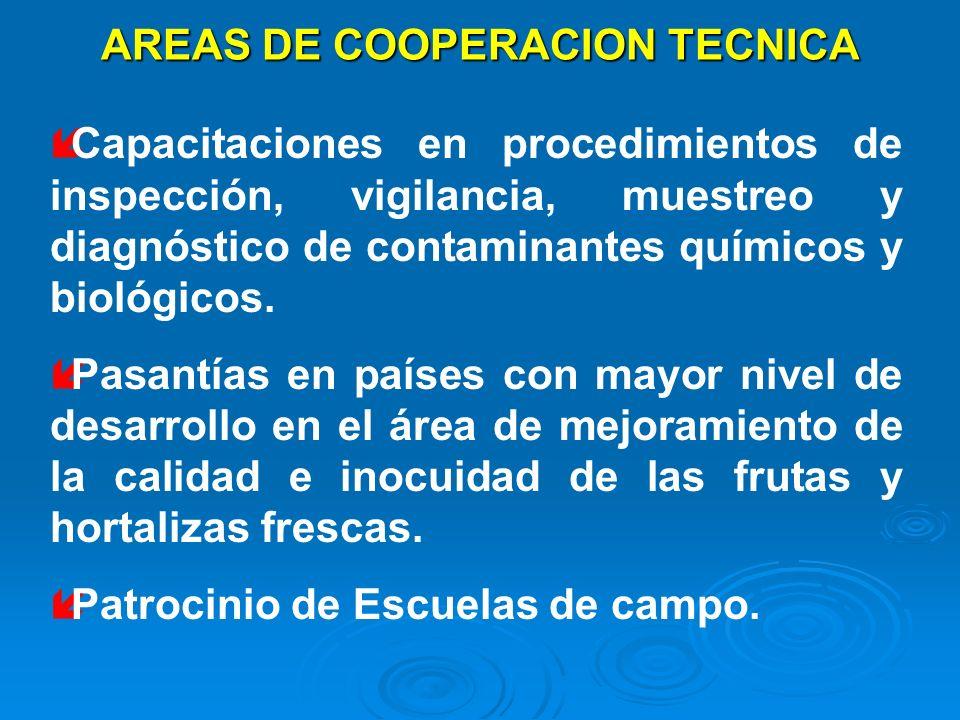 AREAS DE COOPERACION TECNICA