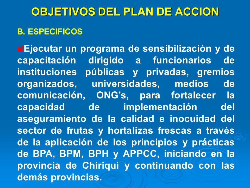 OBJETIVOS DEL PLAN DE ACCION
