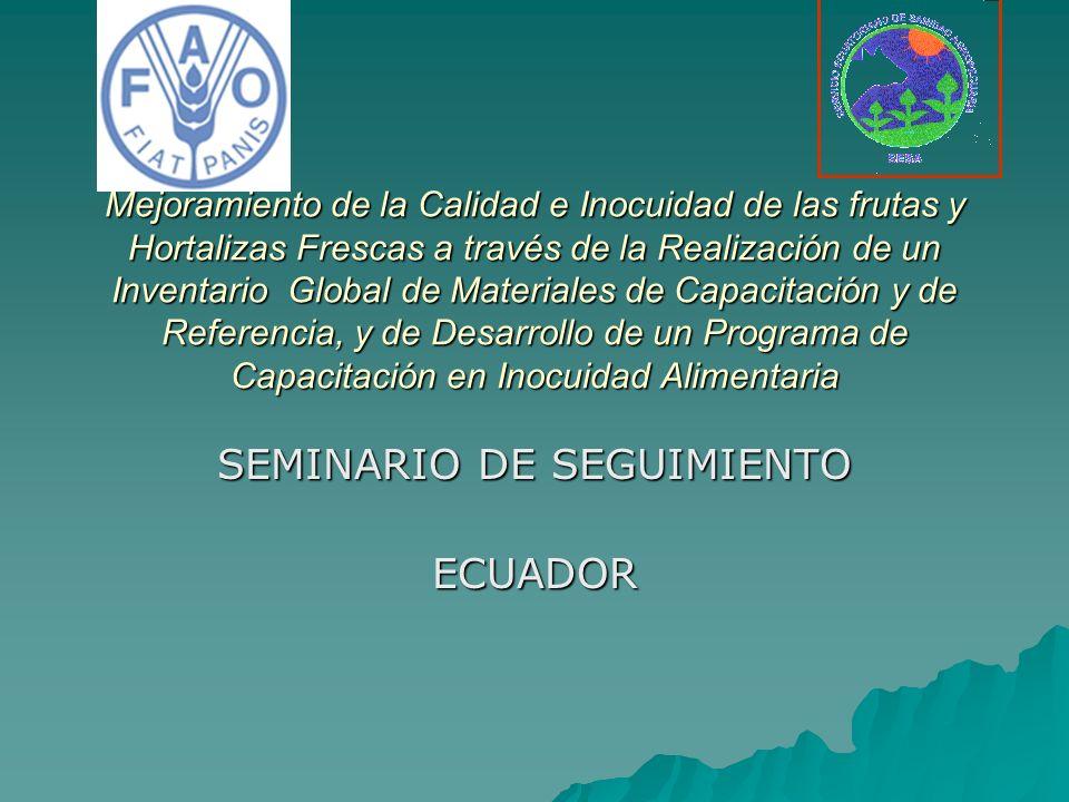 SEMINARIO DE SEGUIMIENTO ECUADOR