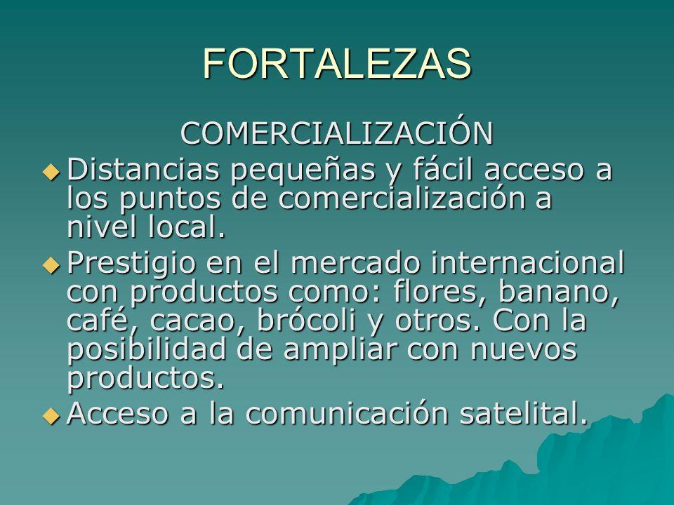 FORTALEZAS COMERCIALIZACIÓN