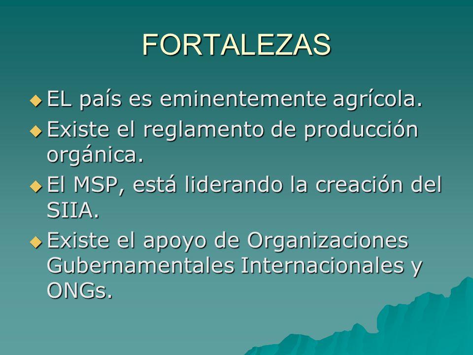 FORTALEZAS EL país es eminentemente agrícola.