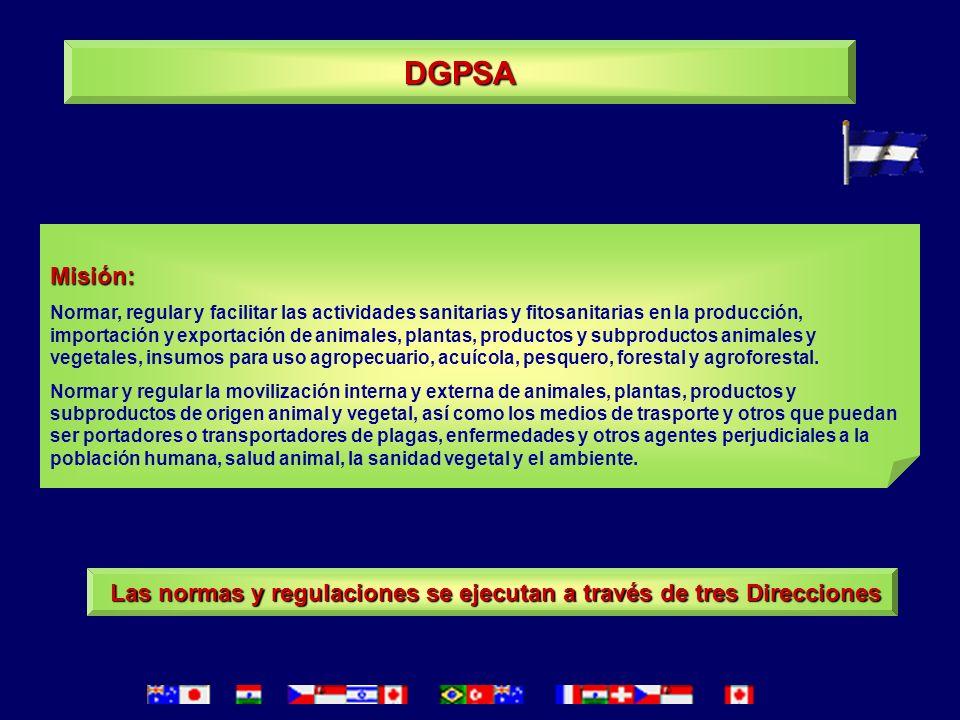 Las normas y regulaciones se ejecutan a través de tres Direcciones