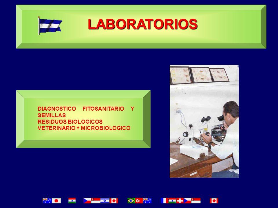 LABORATORIOS DIAGNOSTICO FITOSANITARIO Y SEMILLAS RESIDUOS BIOLOGICOS