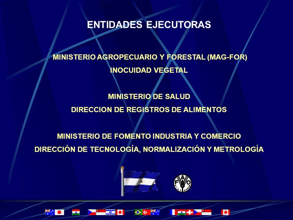 ENTIDADES EJECUTORAS MINISTERIO AGROPECUARIO Y FORESTAL (MAG-FOR)