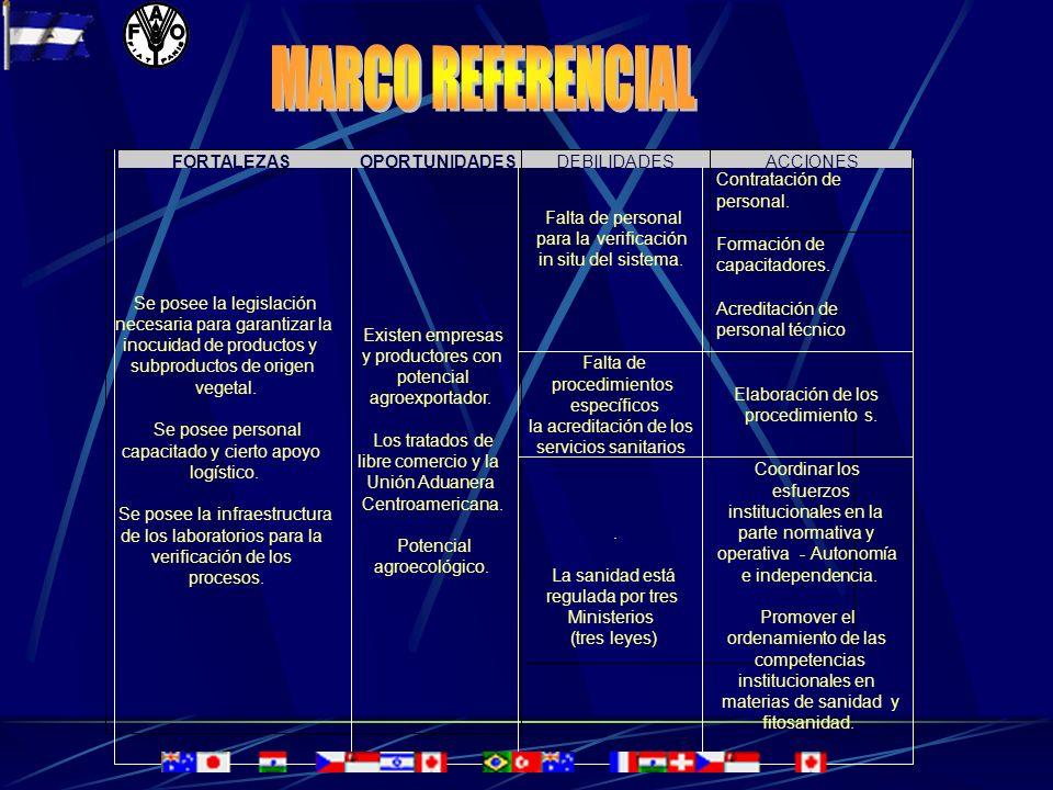 MARCO REFERENCIAL FORTALEZAS OPORTUNIDADES DEBILIDADES ACCIONES