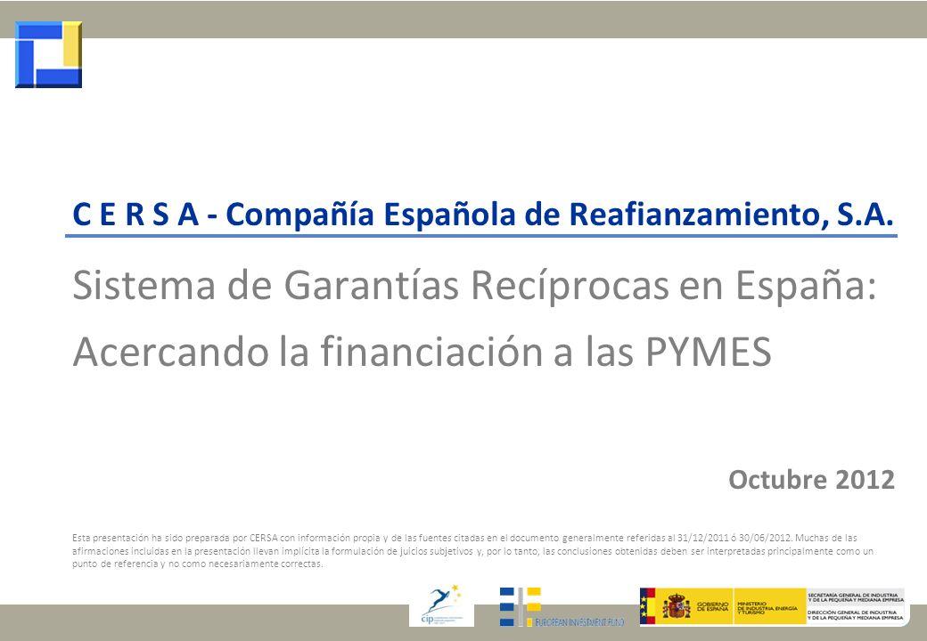 Sistema de Garantías Recíprocas en España: