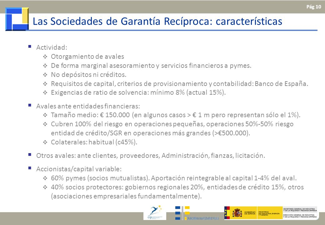 Las Sociedades de Garantía Recíproca: características