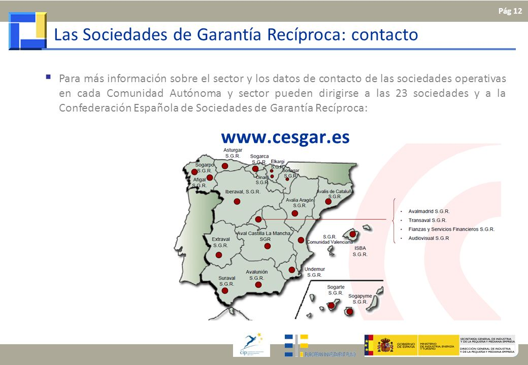 www.cesgar.es Las Sociedades de Garantía Recíproca: contacto