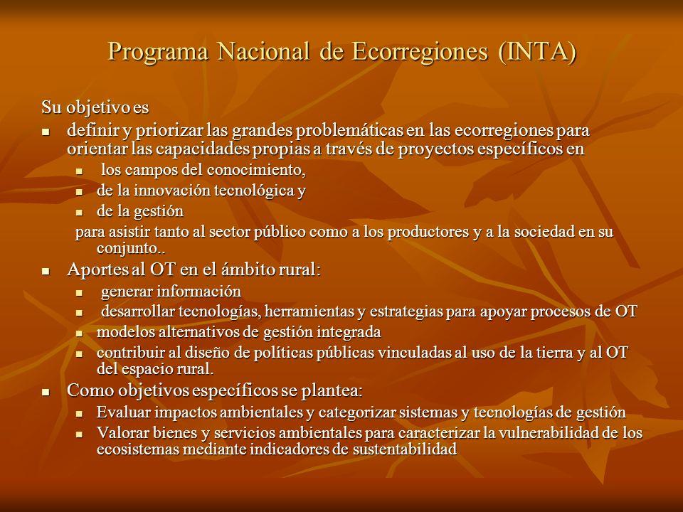 Programa Nacional de Ecorregiones (INTA)