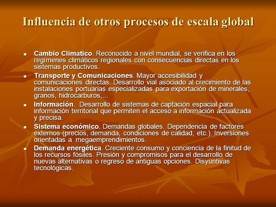 Influencia de otros procesos de escala global