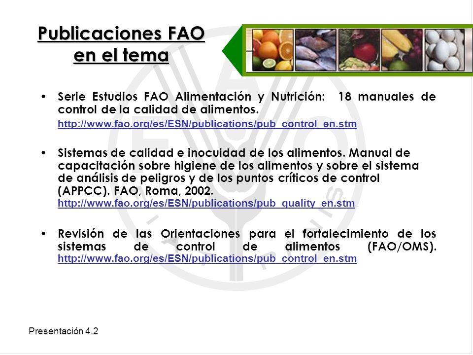 Publicaciones FAO en el tema