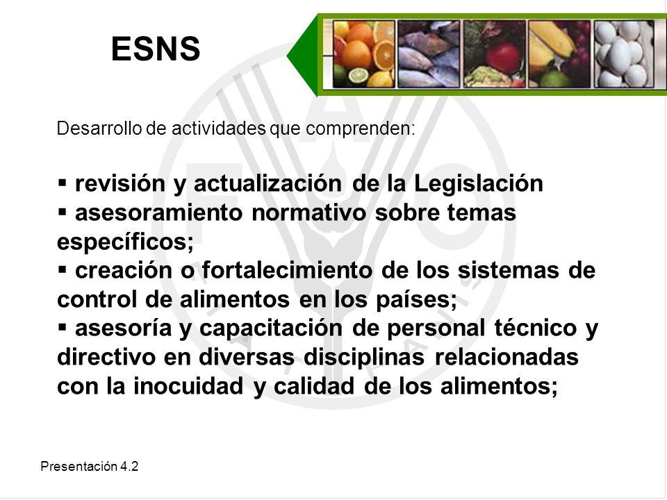 ESNS revisión y actualización de la Legislación
