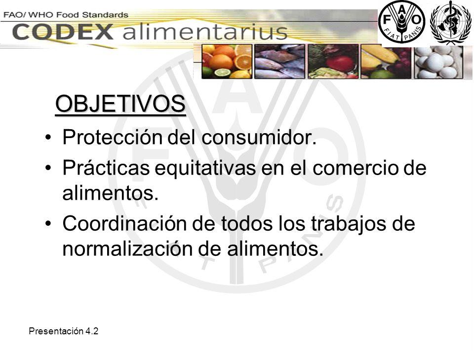 OBJETIVOS Protección del consumidor.
