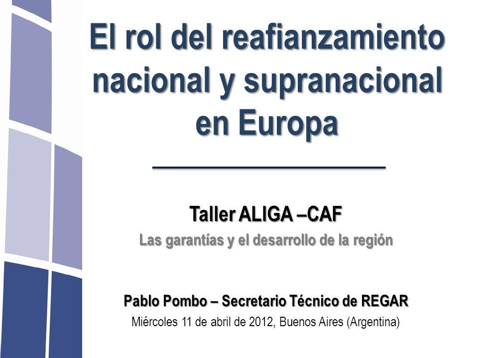 El rol del reafianzamiento nacional y supranacional en Europa