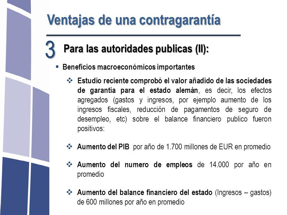 3 Ventajas de una contragarantía Para las autoridades publicas (II):