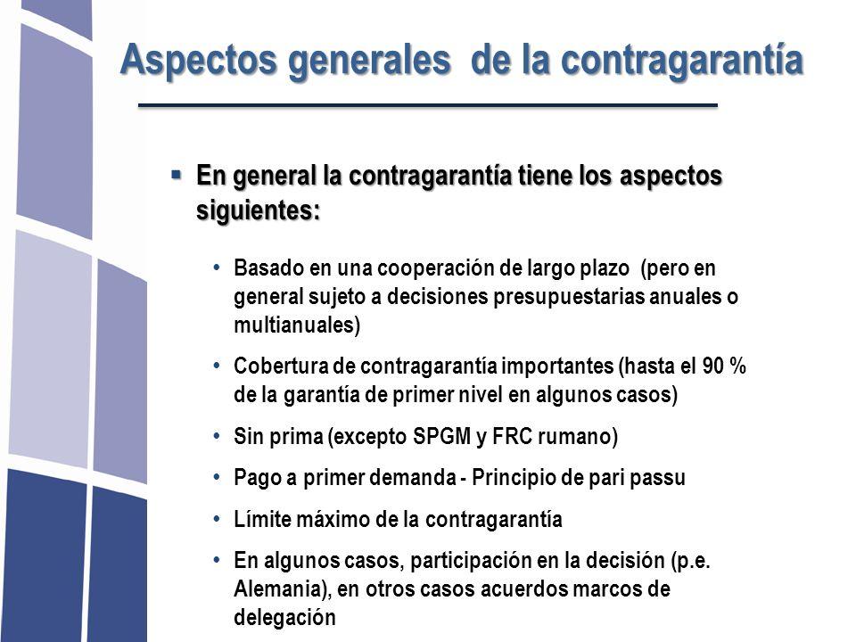 Aspectos generales de la contragarantía