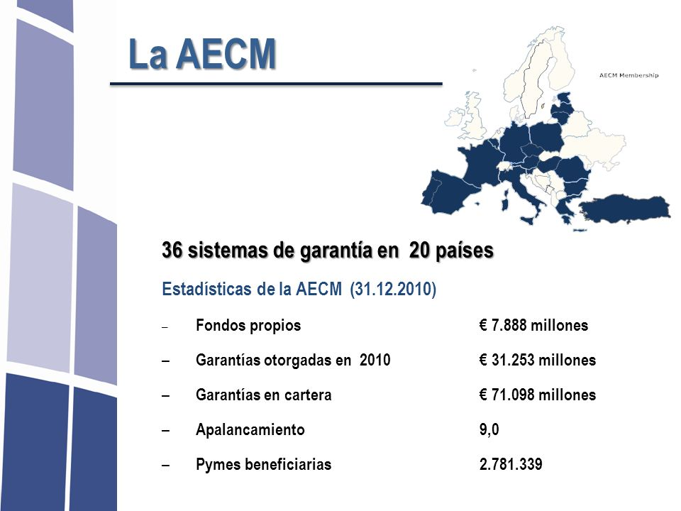 La AECM 36 sistemas de garantía en 20 países