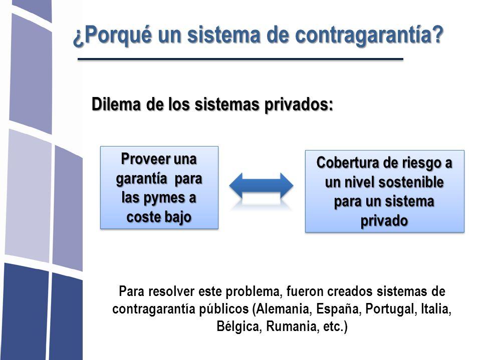 ¿Porqué un sistema de contragarantía