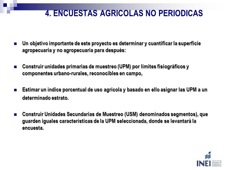 4. ENCUESTAS AGRICOLAS NO PERIODICAS